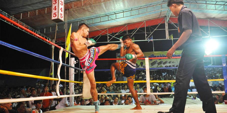 Real muay thai in phuket patong boxing stadium